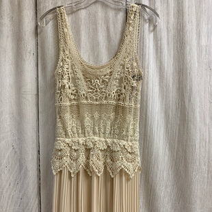 Primary Photo - BRAND:    CLOTHES MENTOR STYLE: DRESS SHORT SLEEVELESS COLOR: CREAM SIZE: S OTHER INFO: WILLOW & CLAY - LACE/PLEATED SKU: 150-150154-54462 PIECE