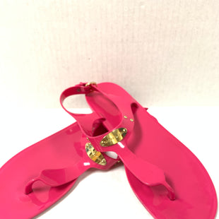 Primary Photo - BRAND: MICHAEL KORS STYLE: SHOES DESIGNER COLOR: HOT PINK SIZE: 10 OTHER INFO: AS IS/ SANDALS FLAT SKU: 150-150112-25159