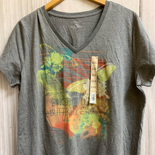Primary Photo - BRAND: SONOMA STYLE: TOP SHORT SLEEVE BASIC COLOR: GREY SIZE: 1X OTHER INFO: BUTTERFLIES SKU: 150-150135-3336