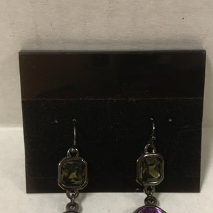 Primary Photo - BRAND:    CLOTHES MENTOR STYLE: EARRINGS COLOR: BLACK OTHER INFO: PURPLE OVAL/GREY SQUARE SKU: 150-150131-12220