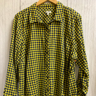 Primary Photo - BRAND: TALBOTS O STYLE: TOP LONG SLEEVE COLOR: PLAID SIZE: 3X OTHER INFO: YELLOW NAVY SMALL CHECK BUTTON UP SKU: 150-150131-8662