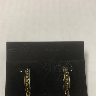 Primary Photo - BRAND:    CLOTHES MENTOR STYLE: EARRINGS COLOR: BRONZE SIZE: 1 OTHER INFO: HALF HOOP WITH BLUE DIAMOND STONE SKU: 150-15047-146955