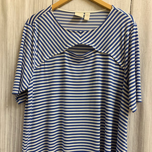 Primary Photo - BRAND: CHICOS STYLE: TOP LONG SLEEVE COLOR: STRIPED SIZE: XL OTHER INFO: BLUE WHITE SKU: 150-150112-16832