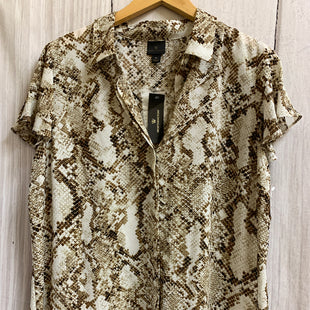 Primary Photo - BRAND: WORTHINGTON STYLE: TOP SHORT SLEEVE COLOR: SNAKESKIN PRINT SIZE: XL OTHER INFO: NEW! SKU: 150-150112-2575BUTTON DOWN