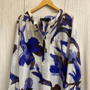 Primary Photo - BRAND: LANE BRYANT STYLE: TOP LONG SLEEVE COLOR: WHITE BLUE SIZE: 3X OTHER INFO: WHITE,BLUE,BLACK SKU: 150-150119-251SHEER