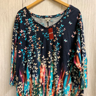 Primary Photo - BRAND: AVENUE STYLE: TOP LONG SLEEVE COLOR: MULTI SIZE: 3X OTHER INFO: NEW!/ BUTTERFLIES SKU: 150-150112-14495