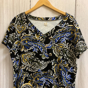 Primary Photo - BRAND: ANNE KLEIN O STYLE: TOP SHORT SLEEVE BASIC COLOR: MULTI SIZE: XL OTHER INFO: BLACK WHITE BLUE AND YELLOW SKU: 150-15047-144476