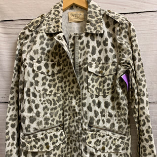 Primary Photo - BRAND: VELVET STYLE: JACKET OUTDOOR COLOR: ANIMAL PRINT SIZE: PETITE OTHER INFO: ZIPPER DOWN FRONT, 2 ZIPPERS ON SIDE SKU: 150-150119-7769BUTTONS AND ZIPS