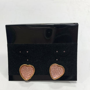 Primary Photo - BRAND:    CLOTHES MENTOR STYLE: EARRINGS COLOR: GOLD OTHER INFO: PINK HEARTS SKU: 150-150135-1463