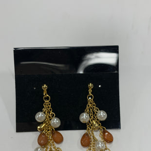 Primary Photo - BRAND: PREMIER DESIGNS STYLE: EARRINGS COLOR: GOLD SIZE: 1 OTHER INFO: ORANGE/PEARLS SKU: 150-150154-2511