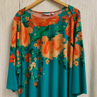 Primary Photo - BRAND: SUSAN GRAVER STYLE: TOP LONG SLEEVE COLOR: FLORAL SIZE: 3X SKU: 150-150133-816