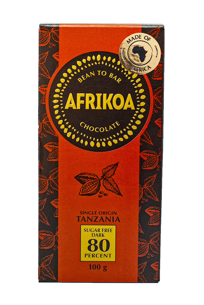 Afrikoa Chocolate - 80% Sugar Free