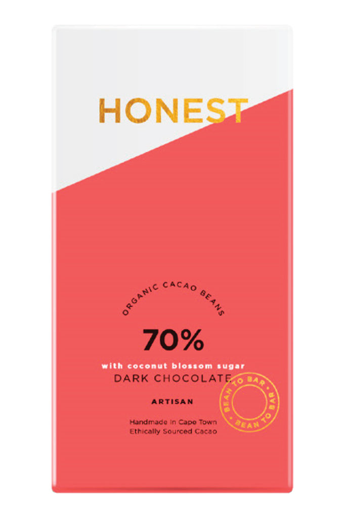 Honest Chocolate - 70% Dark with Coconut Blossom Sugar