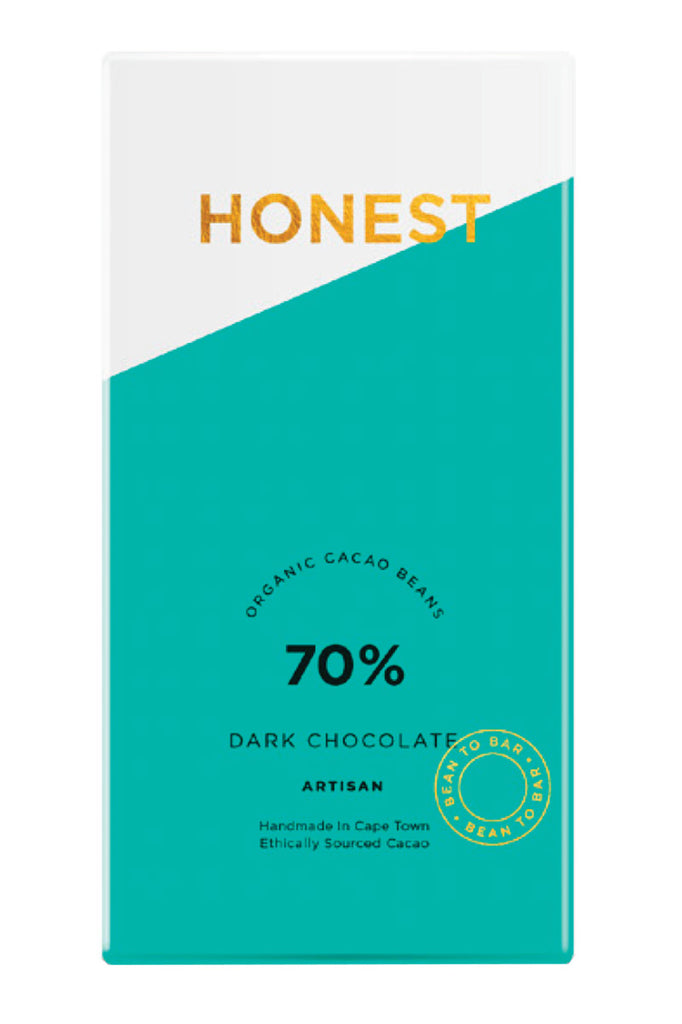 Honest Chocolate - 70% Dark Chocolate Slab