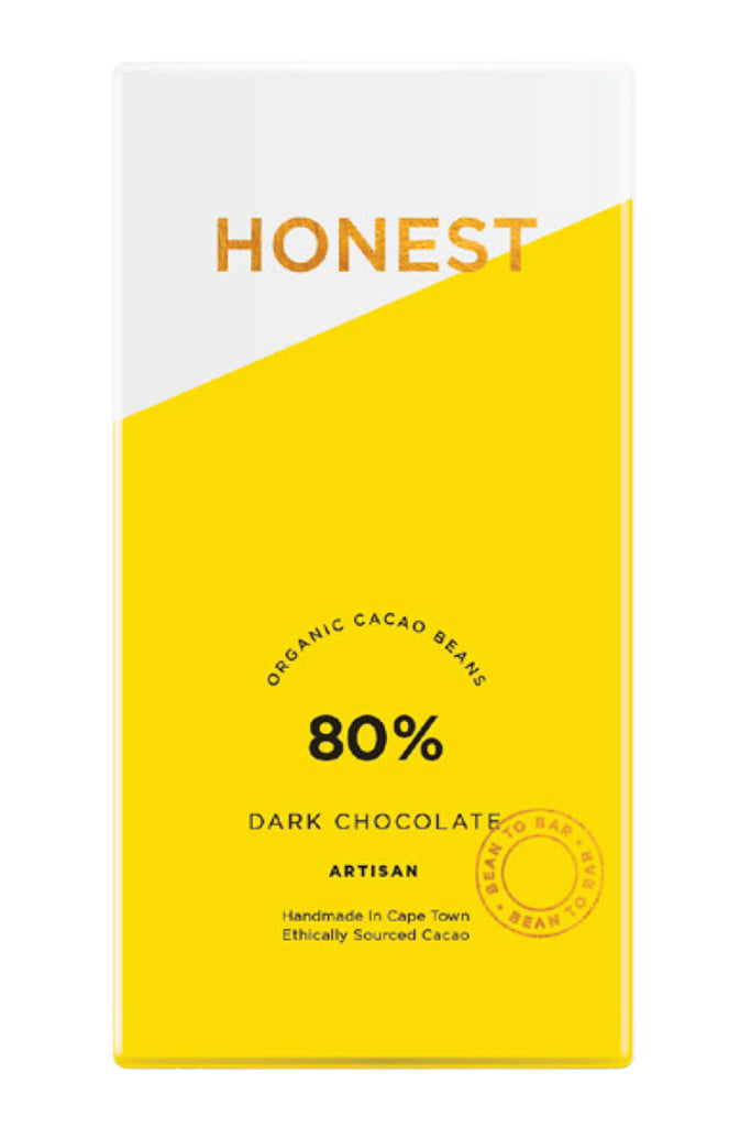 Honest Chocolate - 80% Dark Chocolate Slab