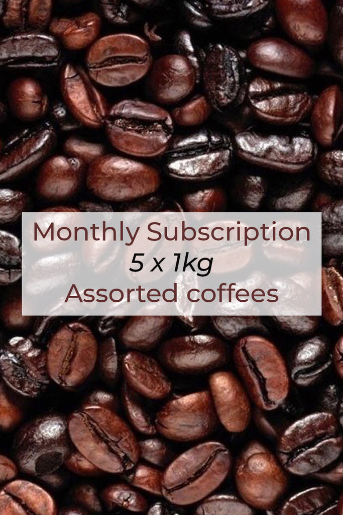 Monthly Subscription - 5 x 1kg assorted coffee