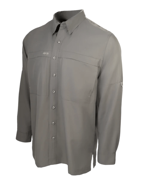 Men's GameGuard Gun Metal Long Sleeve Microfiber Shirt | Shirt | GameGuard - Oasis Outback