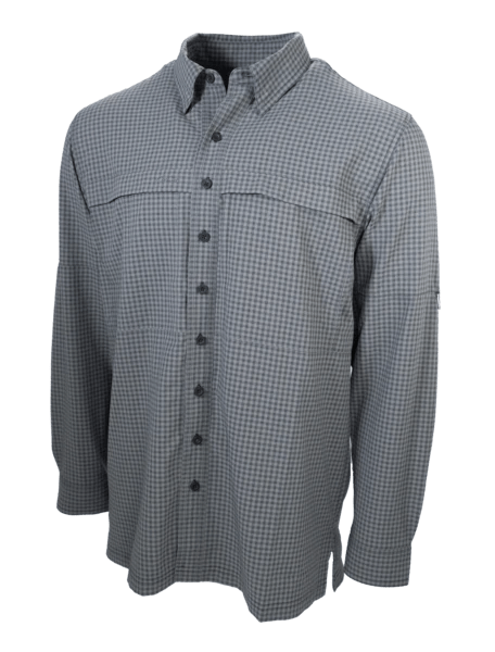 Men's GameGuard Gun Metal Long Sleeve TekCheck Microfiber ShirtMen's GameGuardMen's GameGuard | Shirt | GameGuard - Oasis Outback