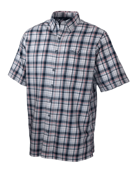 Men's GameGuard Deep Water Plaid Cotton Shirt | Shirt | Oasis Outback - Oasis Outback