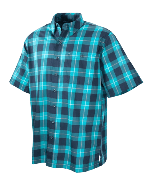 Men's GameGuard River Blue Plaid Cotton Shirt | Shirt | Oasis Outback - Oasis Outback