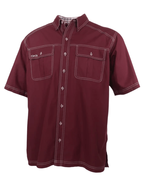 Men's GameGuard Maroon Cotton Shirt | Shirt | Oasis Outback - Oasis Outback
