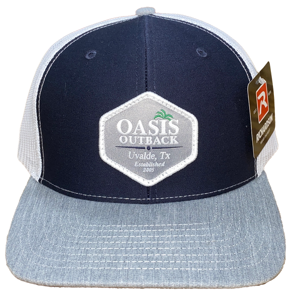 Oasis Outback Navy Patched Trucker Cap | Cap | Oasis Outback - Oasis Outback