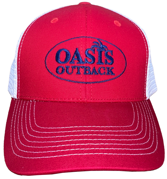 Oasis Outback Red GG Meshback Cap | Cap | Oasis Outback - Oasis Outback