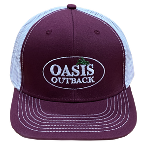 Oasis Outback Maroon GG Meshback Cap | Cap | Oasis Outback - Oasis Outback