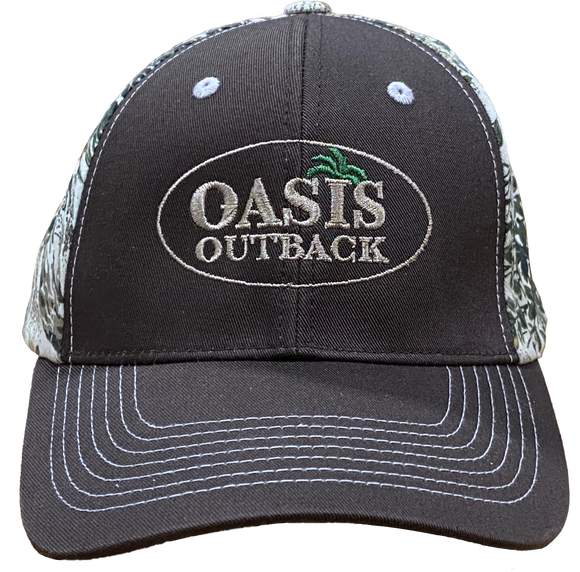 Oasis Outback Chocolate/Camo GG Meshback Cap | Cap | Oasis Outback - Oasis Outback