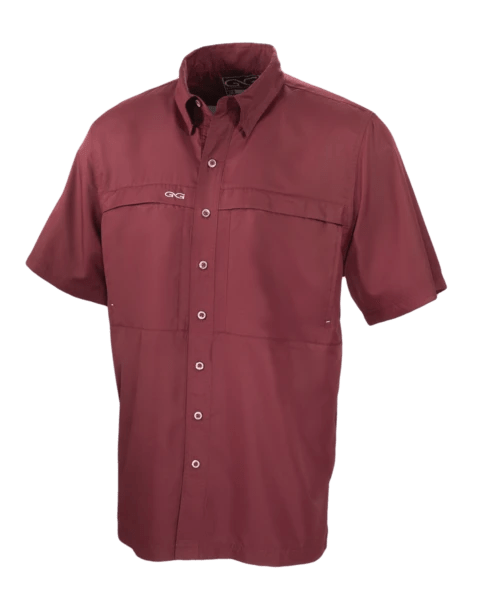 Men's GameGuard Maroon Microfiber Shirt (Older) | Shirt | GameGuard - Oasis Outback