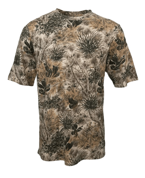 Men's GameGuard Camo Cotton Short Sleeve T-Shirt | Shirt | GameGuard - Oasis Outback