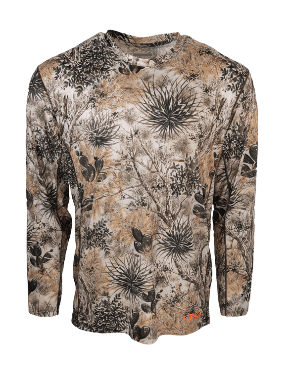 Men's GameGuard Camo Performance Longsleeve Shirt | Shirt | GameGuard - Oasis Outback