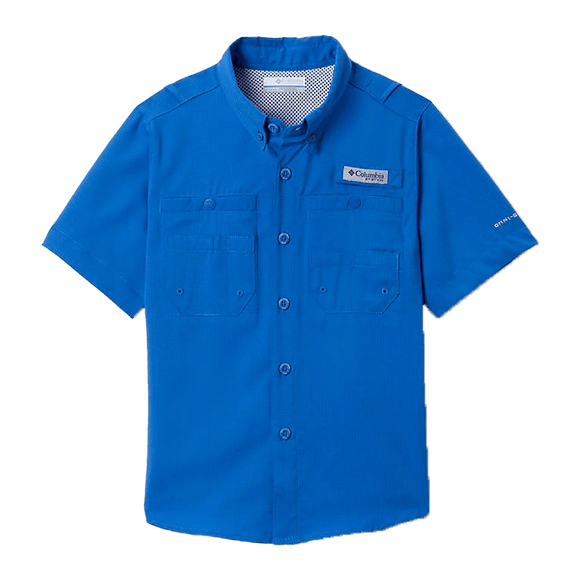 Columbia Boys' Dark Pool PFG Tamiami Short Sleeve Shirt