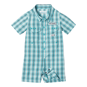 Columbia Dolphin Gingham Infant Bonehead Romper | Romper | Columbia - Oasis Outback