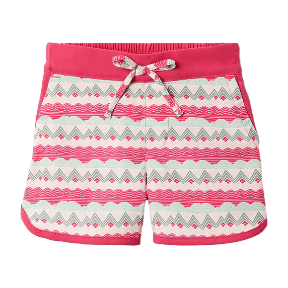 Columbia Girls' Cactus Pink Striped Peaks Sandy Shores Board Short
