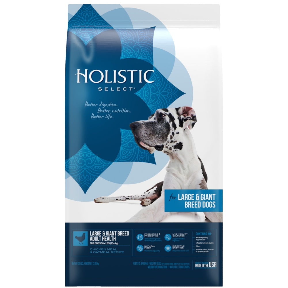 Holistic Select Natural Adult Health Large & Giant Breed Chicken Meal and Oatmeal Dry Dog Food