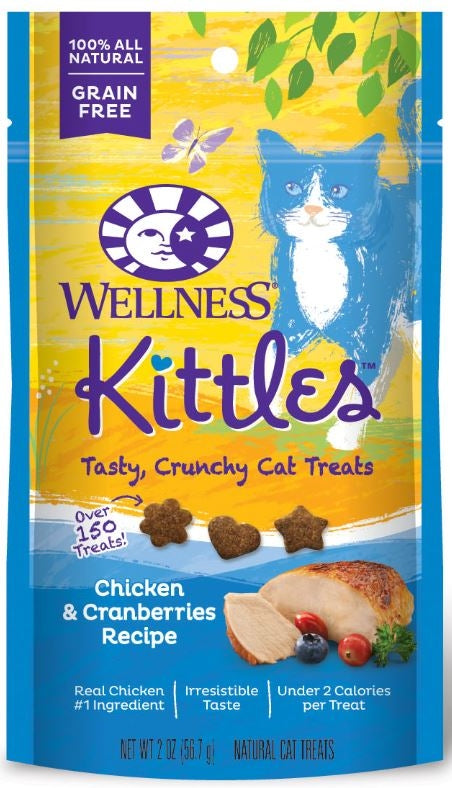 Wellness Kittles Crunchy Chicken & Cranberry Cat Treats