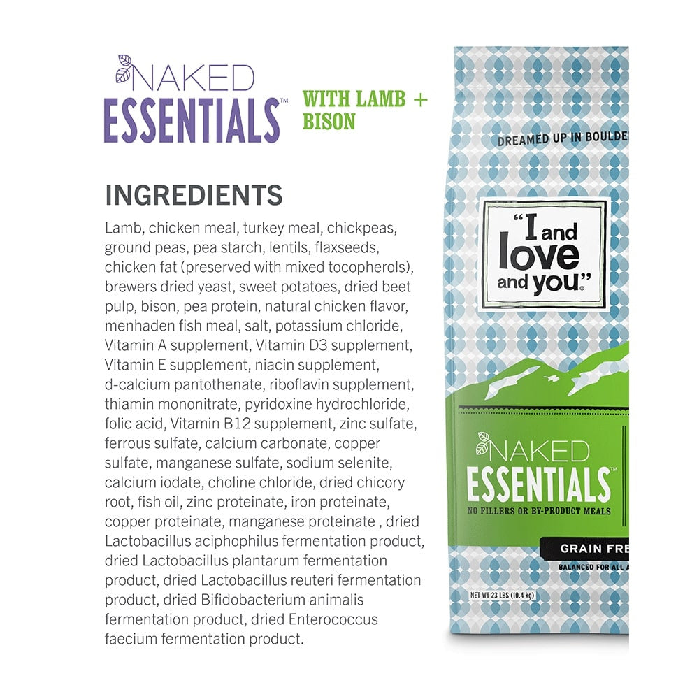 I and Love and You Naked Essentials Grain Free Lamb & Bison Dry Dog Food