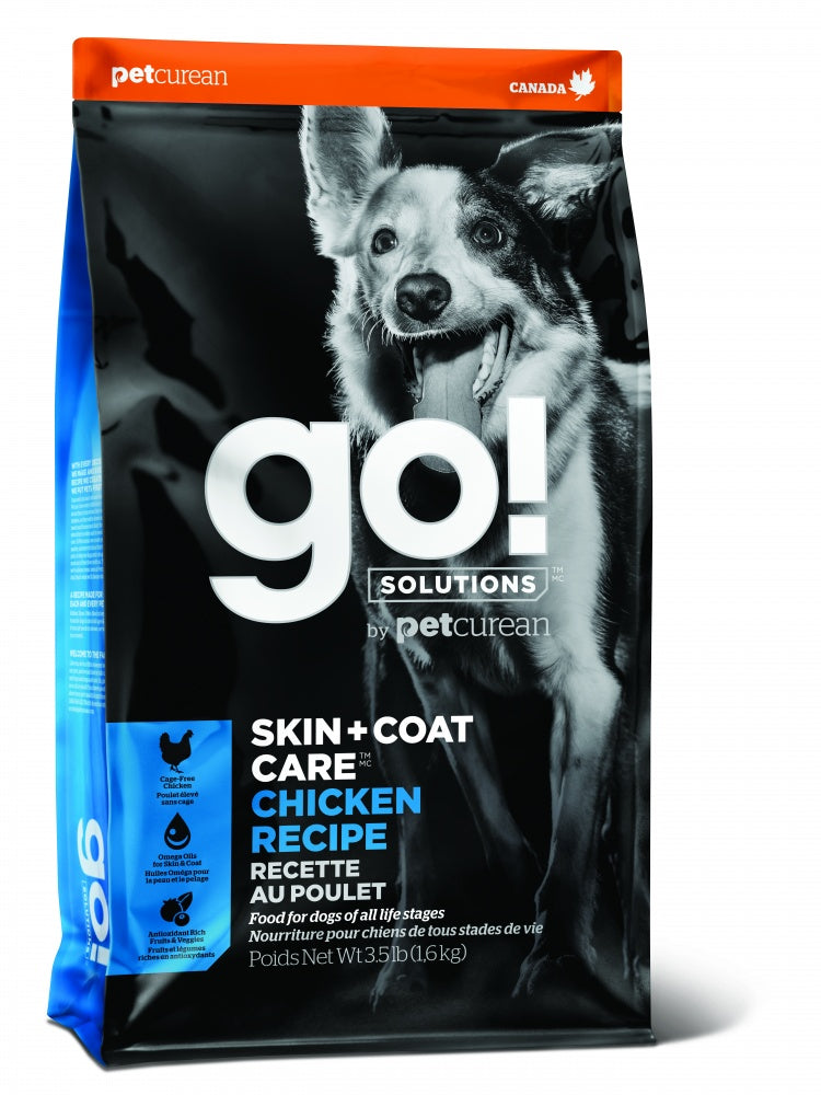 Petcurean Go! Solutions Skin + Coat Care Chicken Recipe Dry Dog Food