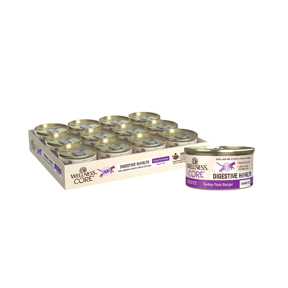Wellness Core Digestive Health Turkey Pate Recipe Canned Cat Food