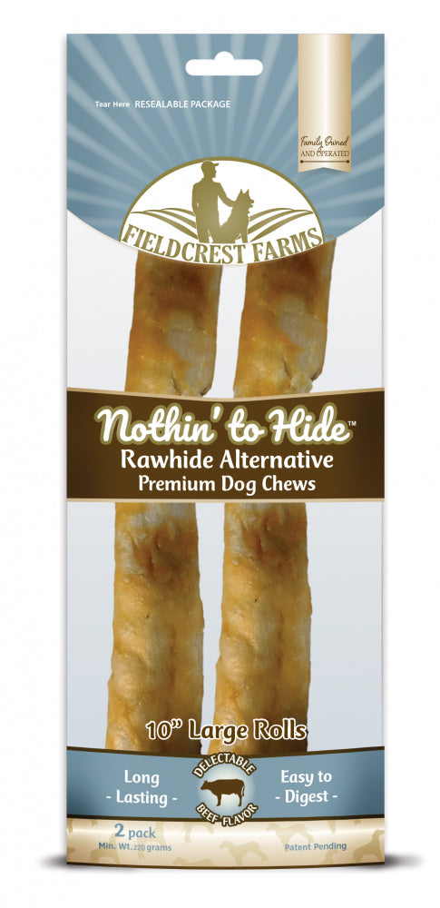 Fieldcrest Farms Nothin' to Hide Large Roll Beef Dog Chews
