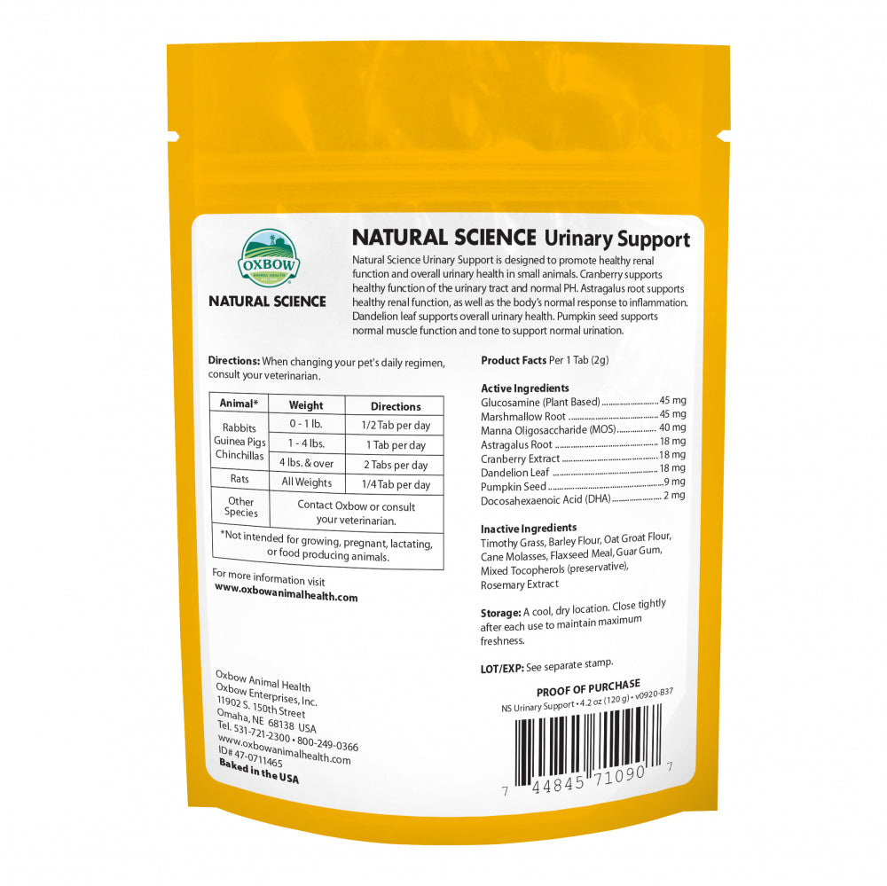 Oxbow Animal Health Natural Science Urinary Support