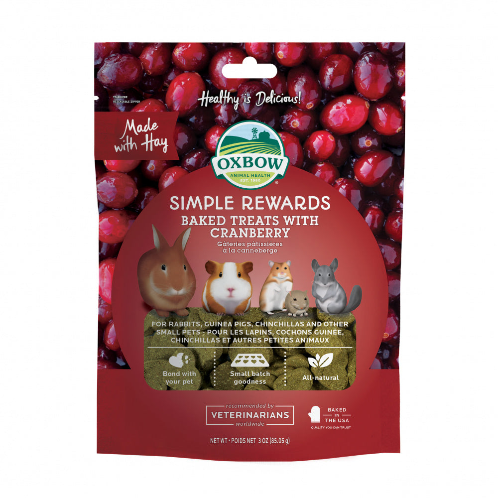 Oxbow Animal Health Simple Rewards Baked Treats with Cranberry