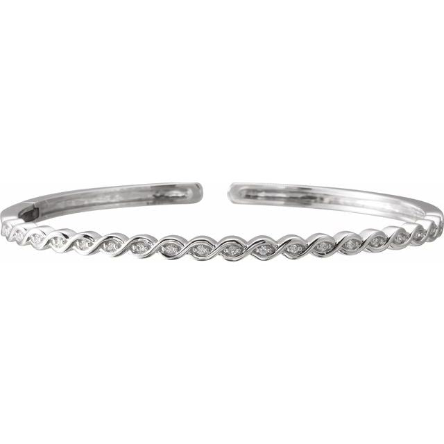 Diamond rope bracelet