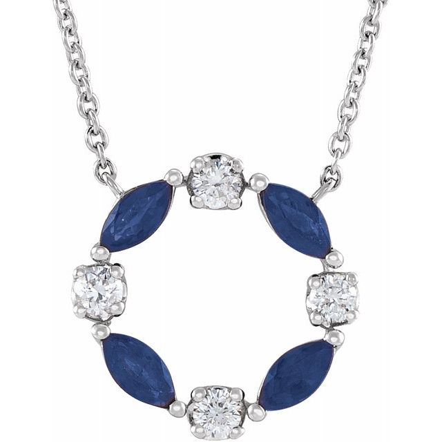 Sapphire Wreath Necklace