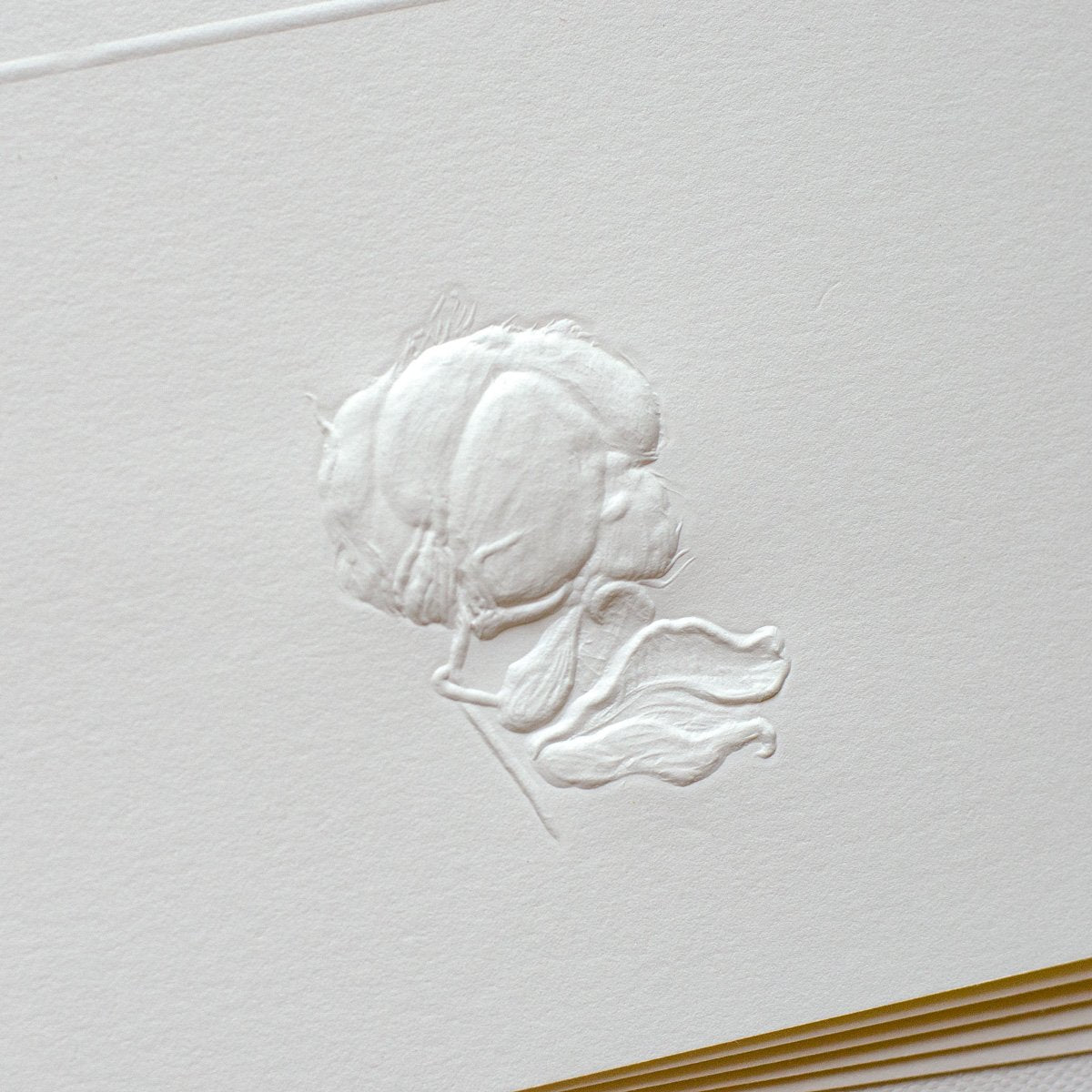 Deep Embossed Cotton Stationary
