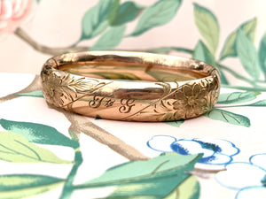 T to G gold filled bangle