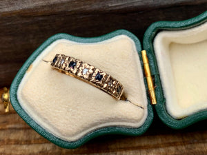 Vintage 9ct Sapphire and diamond band