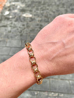 Load image into Gallery viewer, 10k gold link chain bracelet