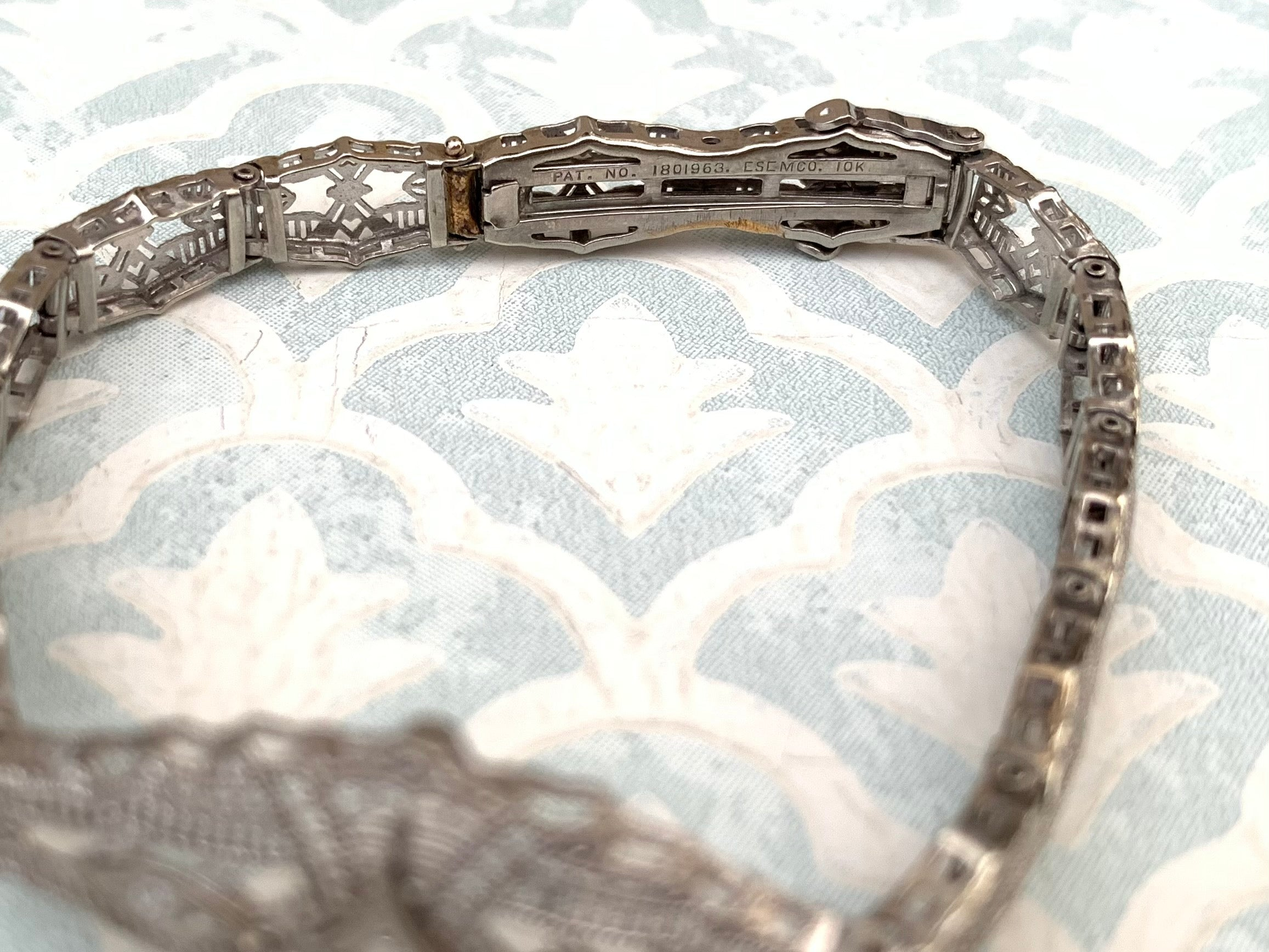Filigree diamond bracelet